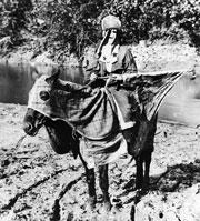 Klansman on a horse